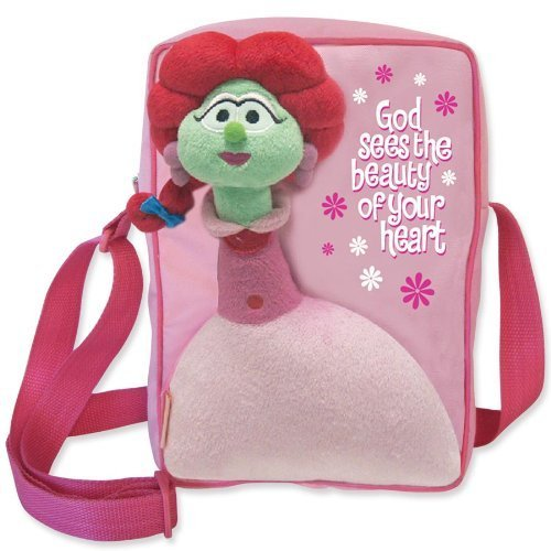 enesco-veggie-tales-by-gregg-gift-carry-all-sweet-pea-tote-bag-925-inch-by-enesco-gift