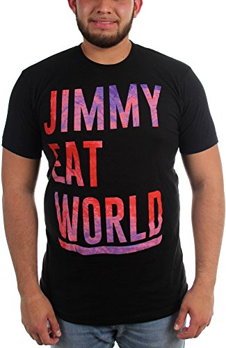 Jimmy Eat World-Stacked-Maglietta a maniche corte da uomo nero Large