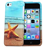 Fosmon MATT Series Rubberized Design Case for Apple iPhone 5C (Beach with Star Fish)