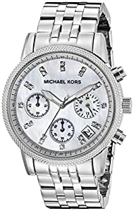 Michael Kors Women's MK5020 Ritz Analog Display Analog Quartz Silver Watch