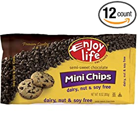 Enjoy Life Foods Semi-Sweet Chocolate Chips Gluten Free (12x10 OZ)