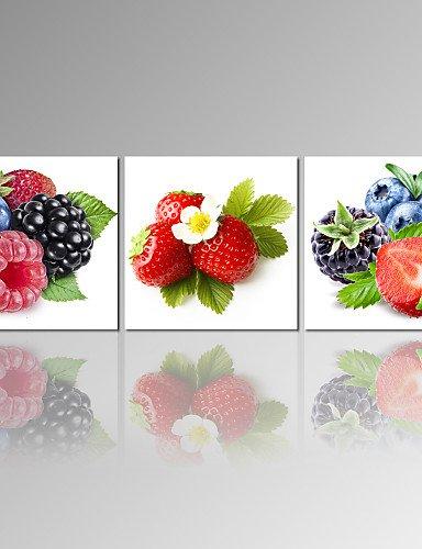 CHINT Generico frutta fragola tela tesa Stampa Pannello 3 Dining Room decor pronto ad appendere NL1766