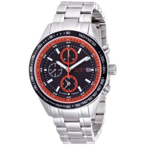[フルボデザイン]Furbo Design Ilsole 腕時計 FS402 ソーラークォーツ クロノグラフ 10気圧防水 ステンレスチール ブラック メンズ FS402SBKOR メンズ
