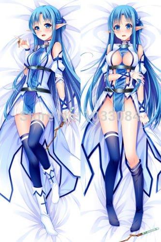 Personalized pillowcase Dakimakura Sword Art Online II YuuKi Asuna Hugging Body Pillow Cover Case (What Type Of Anim compare prices)
