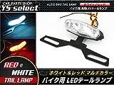 3チップマルチカラー バイク 汎用 LED テール ランプ / 白 / 赤