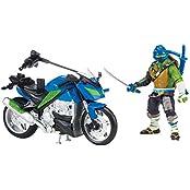 Teenage Mutant Ninja Turtles Movie 2 Leonardo With Motorcycle Vehicle
