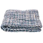 Blue and Green Tweed Throw
