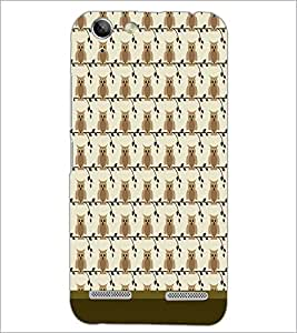 PrintDhaba Owl Pattern D-1649 Back Case Cover for LENOVO A6020a46 (Multi-Coloured)