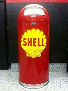 Amazon Com Retro Style Bullet Trash Can Red Shell