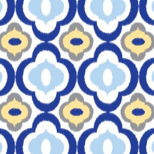Caden Lane Ikat Collection Mod Single Sheet, Blue