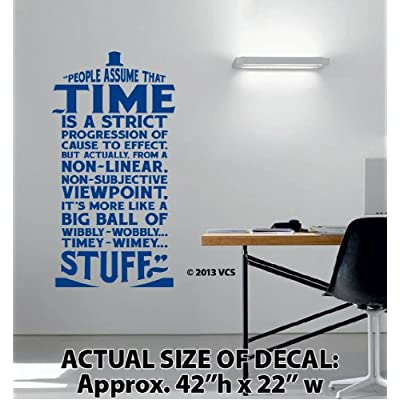 Xtra large time is wibbly wobbly timey wimey stuff wall décor