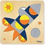P'kolino Multi-Solution Shape Puzzle - Space Ship