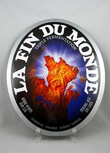 unibroue-la-fin-du-monde-strong-ale-16-x-20-double-sided-cardboard-sign
