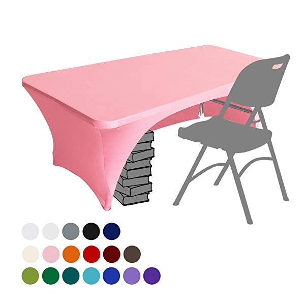 White 6/' ft Fitted Polyester Table Cover Tablecloth Trade show Booth DJ
