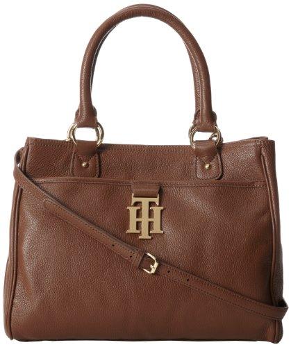 Tommy Hilfiger 6918084-Monogrammed II Convertible Shoulder Bag,Mocha-282,One Size