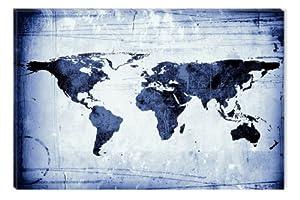 Startonight Glow In The Dark Old Map Navy Blue Canvas