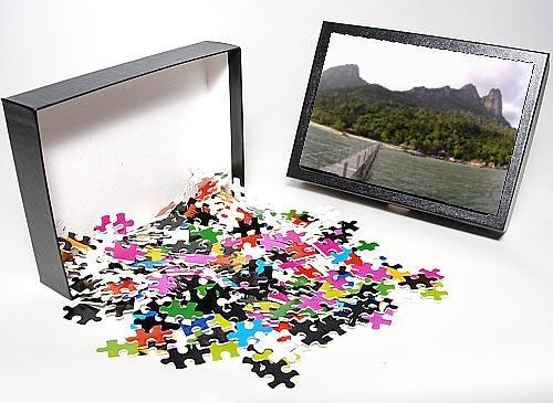 Photo Jigsaw Puzzle Of Rainforest, Volcanic Twin Peaks - Bukit Batu Sirau And Bukit front-926396