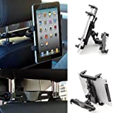 Dealgadgets Adjustable Tablet Car Seat Headrest Mount Holder for 9-10 Inches Tablets: Samsung Galaxy Tab 3 4 pro note 10.1, Sony Xperia Z/Z2 Tablet, iPad Air/1 2 3 4 etc