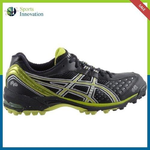 Asics Hockey Shoes- Gel-Hockey Neo Women- Onyx/Soft Green/Silver- Size UK 5