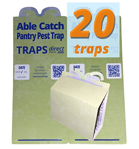 20 Green Pantry Moth Traps By Able Catch - Non-toxic, Individual Pheromone Lures