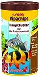 sera vipachips, Die Hauptfutter Bodenfutterchips für Zierfische der unteren Wasserschicht im Aquarium, 1er Pack (1 x 1000milliliters) -