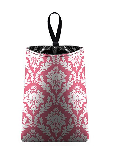 Auto Trash (Pink and White Damask) by The Mod Mobile - litter bag/garbage can for your car (Damask Garbage Can compare prices)