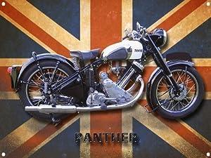PANTHER MOTORCYCLE METAL SIGN.