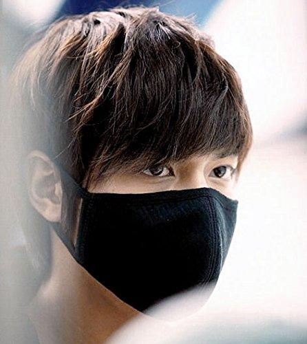 オシャレ立体黒マスク blacken (フリーサイズ5枚入り+カラーマスク1枚セット) 活性炭入り高品質立体マスク 花粉症 pm2.5 風邪 インフルエンザ対策に!