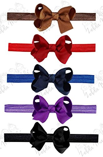 Zelda Matilda 10 Piece Boutique Bow Clips - Plus Interchangeable Headband Set