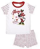 Pijama corto bebé niña Minnie rosa y rojo de 6a 23meses rosa Blanc/rouge Talla:23 mes