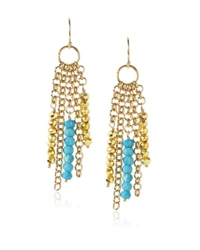 Cristina V. Turquoise & Chain Earrings
