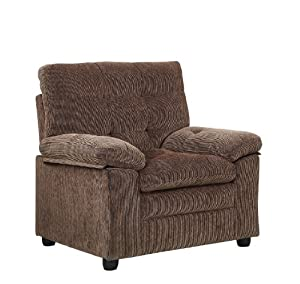 Homelegance 9715BR-1 Upholstered Chair with Channel Tufted, Golden Brown Chenille