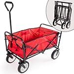 TecTake Foldable Garden Mesh Cart Pul...
