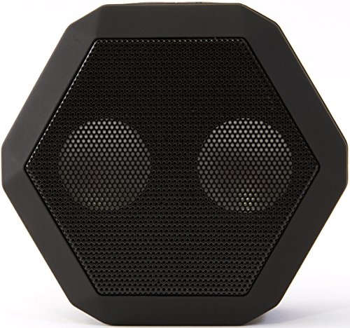Boombotix Boombot Rex Wireless Ultraportable Weatherproof Bluetooth Speaker For Ipods Smartphones Tablets And Laptops - Pitch Black (Newest Version)
