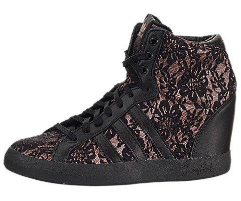 on sale 9bbe3 9e1be Adidas Jeremy Scott Lace Profi Wedge Black Black 9 B US