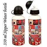 Sipper Water Bottle 350ml Loverose Print