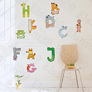 A K Letters Decorative Wall Stickers