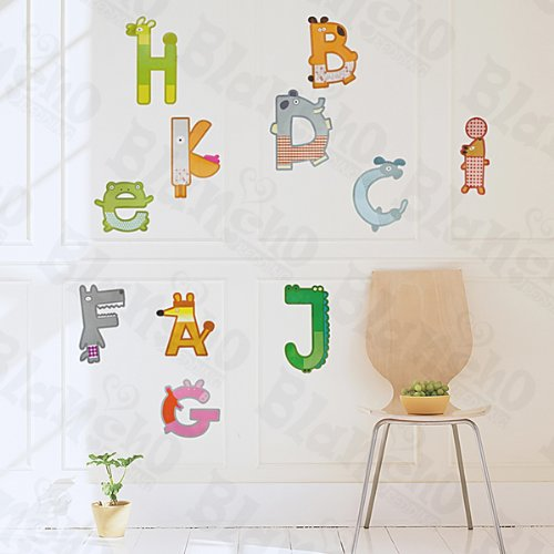 [A-K Letters] Decorative Wall Stickers Appliques Decals Wall Decor Home Decor