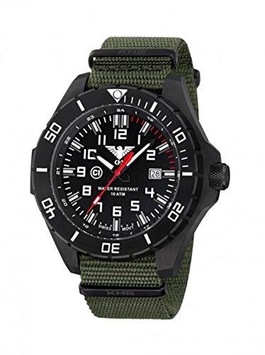 KHS Tactical orologio uomo Landleader Black Steel KHS.LANBS.NO