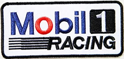 Mobil 1 Oil Racing Logo Jacket Patch Sew Iron on Embroidered Symbol Badge Cloth Sign bY PRINYA SHOP
