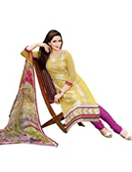 DivyaEmporio Women's Salwar Suit Dupatta Unstitched Dress Material (Free Size) - B00S7QA8L0