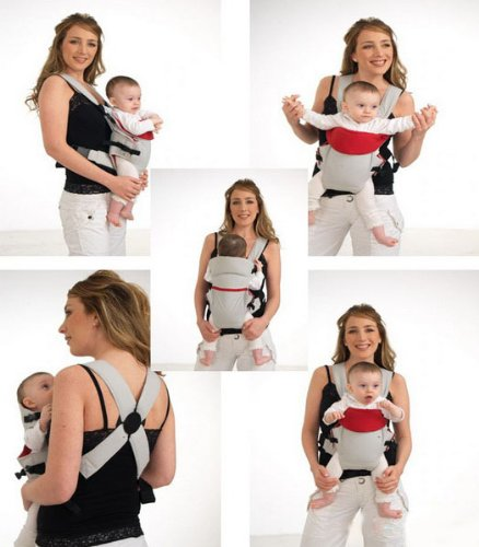 Bestdealusa New Front & Back Baby And Kids Carrier Backpack Sling Adjustable Gray