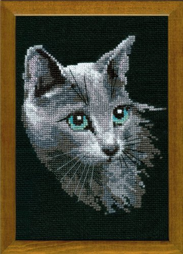 Riolis 10 Count Russian Blue Counted Cross Stitch Kit, 8.25 by 11.75-Inch