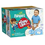 Pampers Easy Ups Trainers, Super Pack, Boy, Size 6 S4T/5T, 60 Count