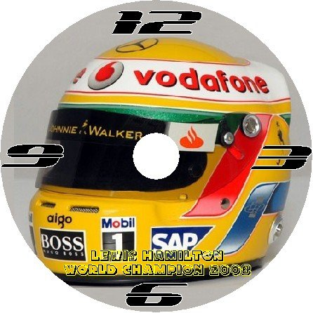 FORMULA 1 F1 LEWIS HAMILTON HELMET CD QUARTZ WALL CLOCK 2008 WORLD CHAMPION