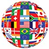 International Flag Plates Party Accessory 1 count 8Pkg