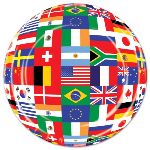 International Flag Plates   (8/Pkg) - 1