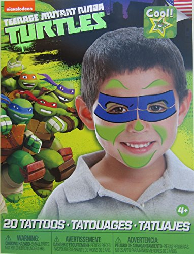 Teenage Mutant Ninja Turtles Mask Children Temporary Tattoos - Leonardo
