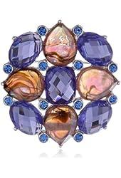 "Napier ""Giftable"" Silver-Tone and Purple Stone Boxed Pin"