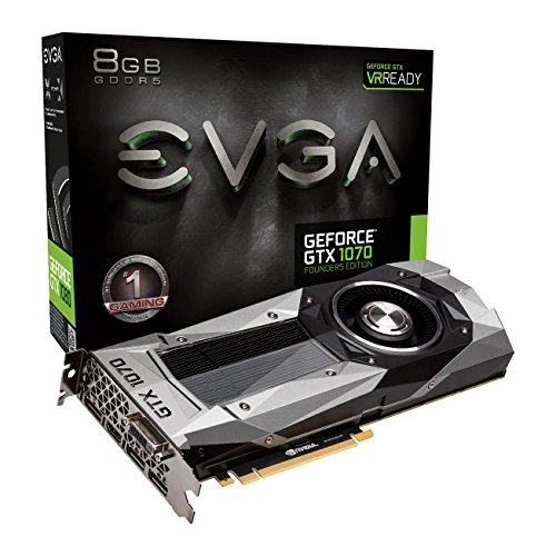 EVGA Nvidia GTX 1070 Fondateurs édition 8GB GDDR5 1683 mhz Boost, 1506Mhz Base, DP, HDMI, DVI DL PCI-E, Scheda grafica